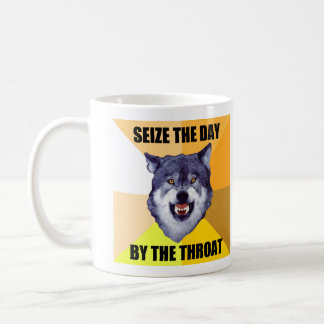 Courage Wolf Mug (With Two Images)
