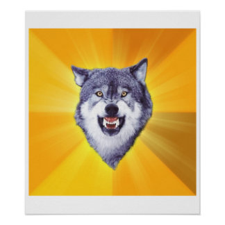 Courage Wolf Print