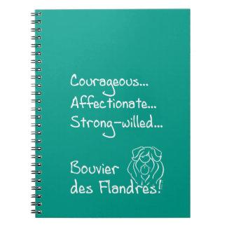 Courageous Bouvier Notebook