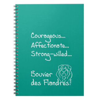 Courageous Bouvier Notebooks