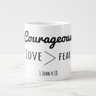 Courageous Jumbo Mug Love > fear