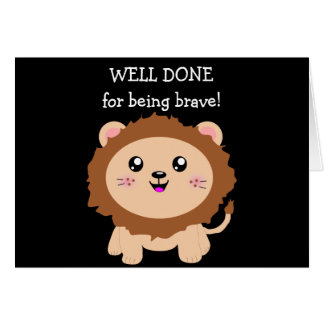 Courageous Lion - well done for being brave Card