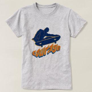 Courageous Skateboarder T-Shirt