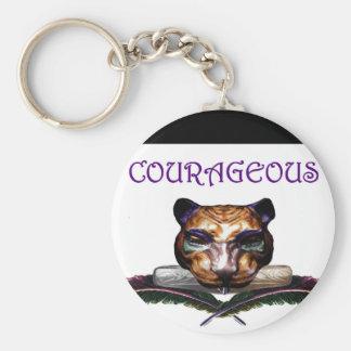Courageous- The feline Keychain