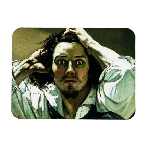 Courbet l'aimant désespéré d'homme magnet souple