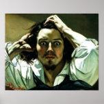 Courbet The Desperate Man Poster