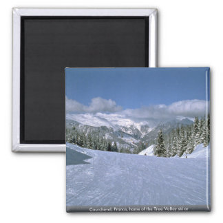Courchevel, France, home of the Tree Valley ski ar Square Magnet