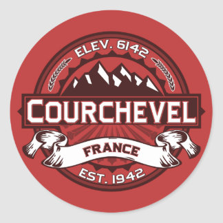 Courchevel Logo Classic Round Sticker