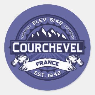 Courchevel Logo Midnight Round Sticker
