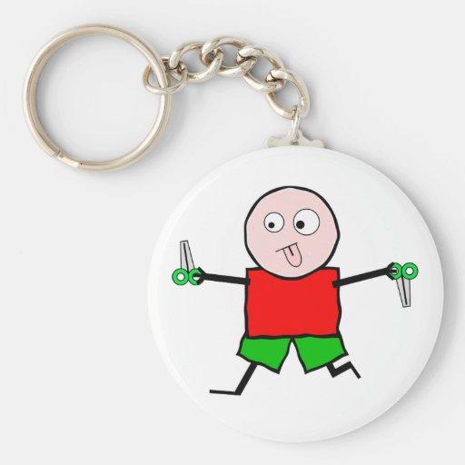 Courez avec des ciseaux porte-clé rond