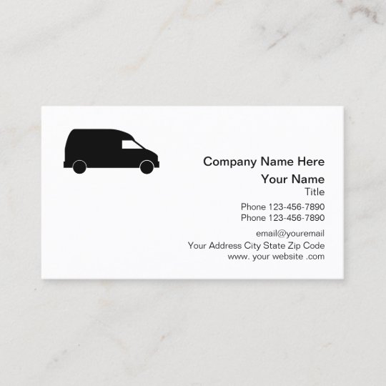 Courier delivery van design business card zazzle courier delivery van design business card reheart Image collections