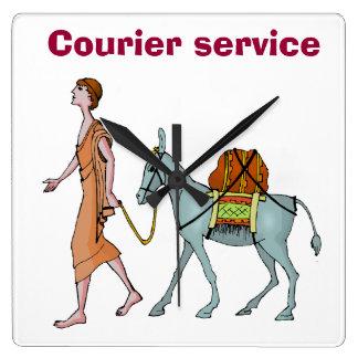 Courier service clocks