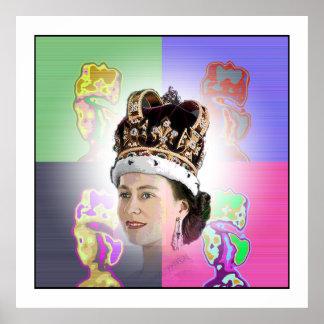 Couronnement d'art de bruit pour Elizabeth II