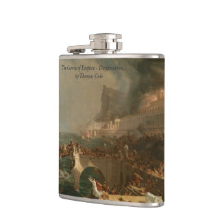 Course of Empire - Destruction, by Thomas Cole Hip Flask
