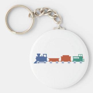 Course railway train railway basic round button keychain