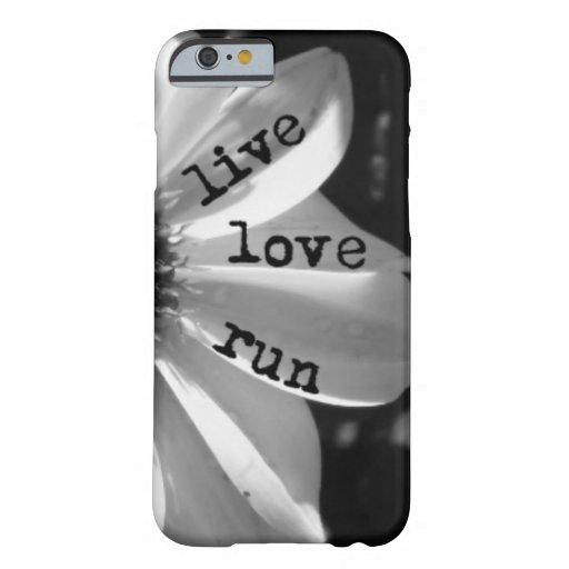 Course vivante d'amour par des conceptions de coque iPhone 6 barely there