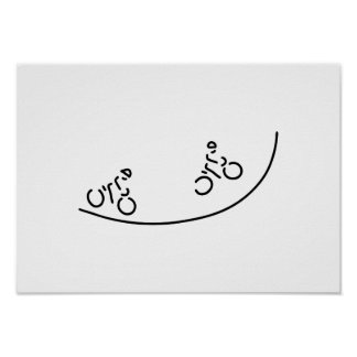course wheel racing cycle sport poster