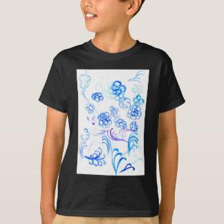 Courses bleues de peinture t-shirt