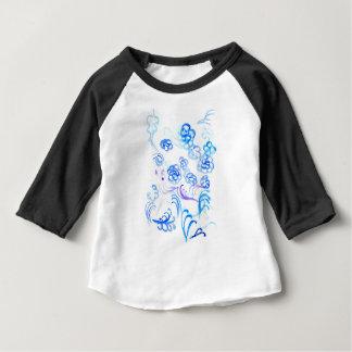 Courses bleues de peinture t-shirt pour bébé