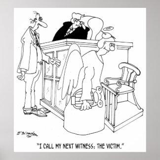 Court Cartoon 5621 Poster
