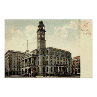 Court House, Canton Ohio, 1910 Vintage Poster