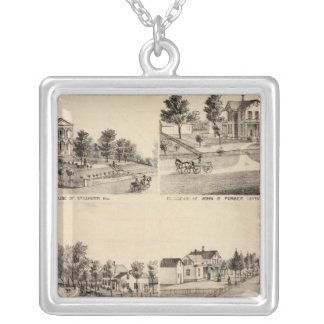 Court House of Stillwater, Minnesota Silver Plated Necklace