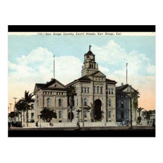 Court House San Diego California 1921 Postcard