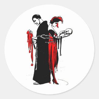court-jester-costumes-3 round sticker