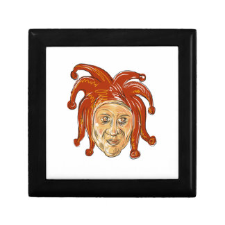 Court Jester Head Drawing Gift Box