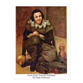 Court Jester Juan De Calabazas By Diego Velazquez Postcard