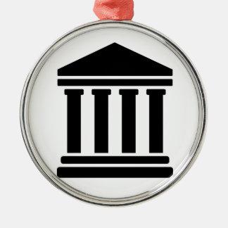 Court justice symbol metal ornament