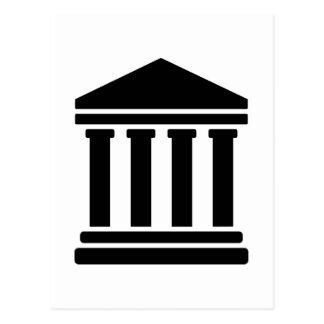 Court justice symbol postcard
