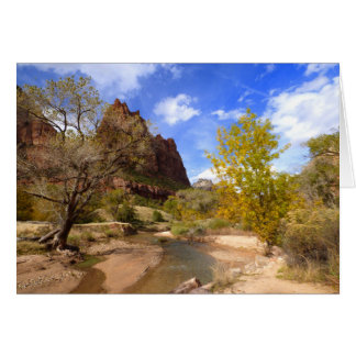 """""""Court of the Patriarchs"""", Zion NP, Blank Inside Card"""