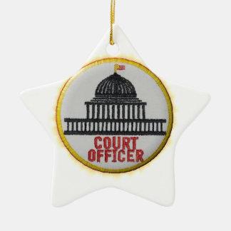 Court Officer Ceramic Ornament