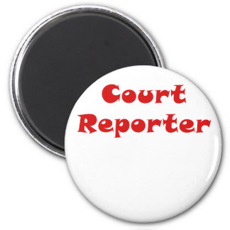 Court Reporter 2 Inch Round Magnet