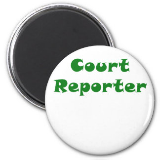 Court Reporter 2 Inch Round Magnet