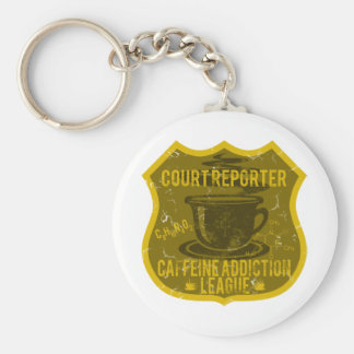 Court Reporter Caffeine Addiction League Keychain