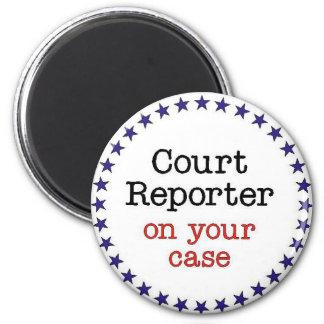 Court Reporter Case 2 Inch Round Magnet
