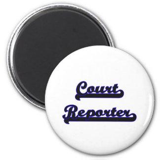 Court Reporter Classic Job Design 2 Inch Round Magnet