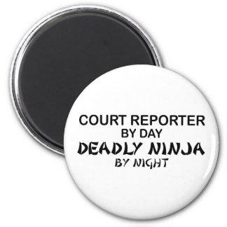 Court Reporter Deadly Ninja Fridge Magnets