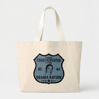 Court Reporter Obama Nation Large Tote Bag
