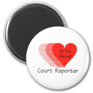 Court Reporter Record 2 Inch Round Magnet