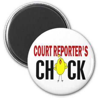 Court Reporter's Chick Refrigerator Magnet