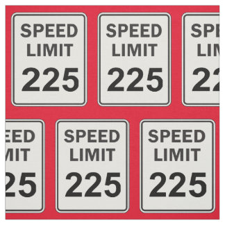 Court Reporter Student 225 Speed Limit Sign Fabric