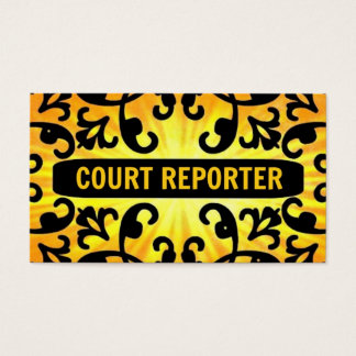 Court Reporter Sunshine Damask Business Card