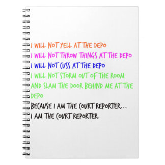 Court Reporter Temper Tantrum Spiral Notebook