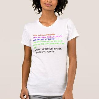 Court Reporter Temper Tantrum T-shirt