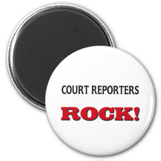 Court Reporters Rock 2 Inch Round Magnet