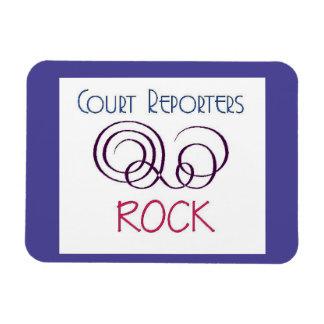 Court Reporters Rock Rectangular Photo Magnet