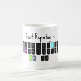 Court Reporting is Cool Steno Keyboard Mugs